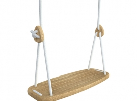 Dimensions: Standard rope length 3.2m (adjustable to accomodate space). Weight of Swing is 1.3kg  Maximum weight swing can hold is 60kgs **Curl Hooks not included but can be purchased from local hardware store**  Age Suitability: 2year - 14years old  Suitable: Indoor and Outdoor Use